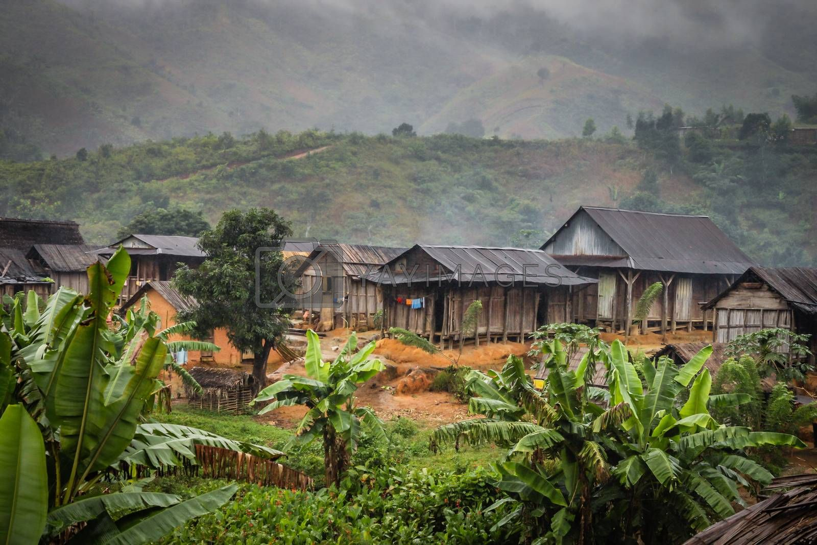 Small village in the middle of Madagascar rainforest