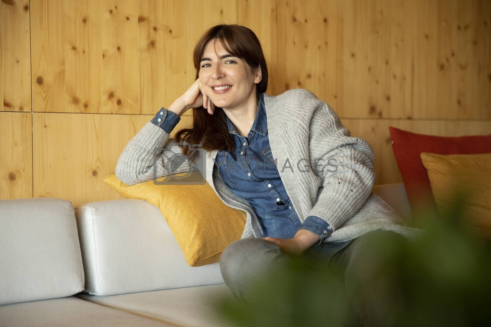 Beautiful woman sitting and relaxing