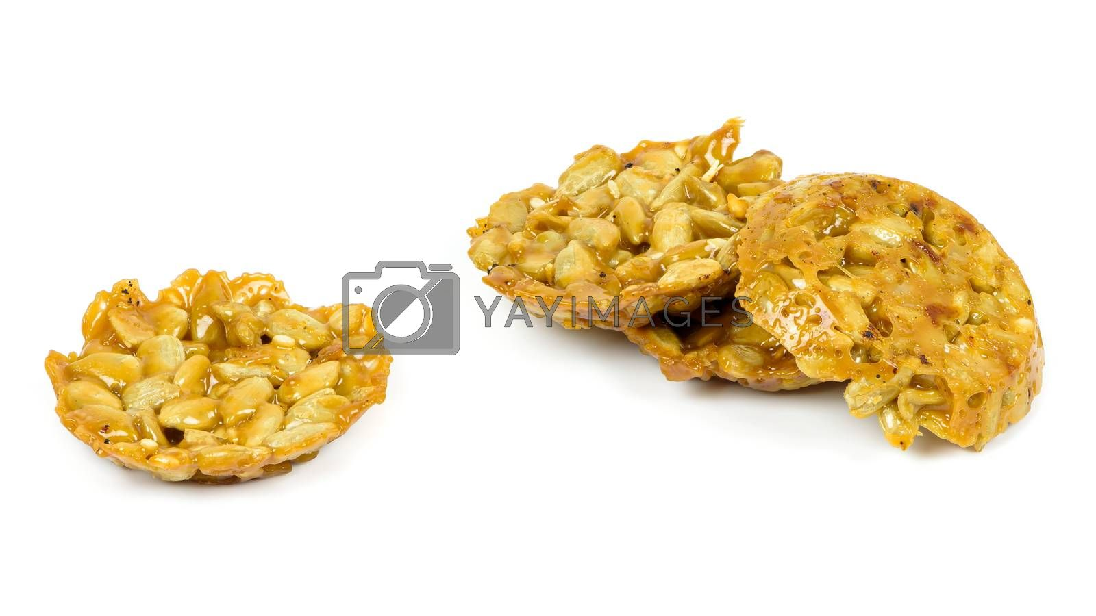 Florentine biscuit isolated on white background with clipping path
