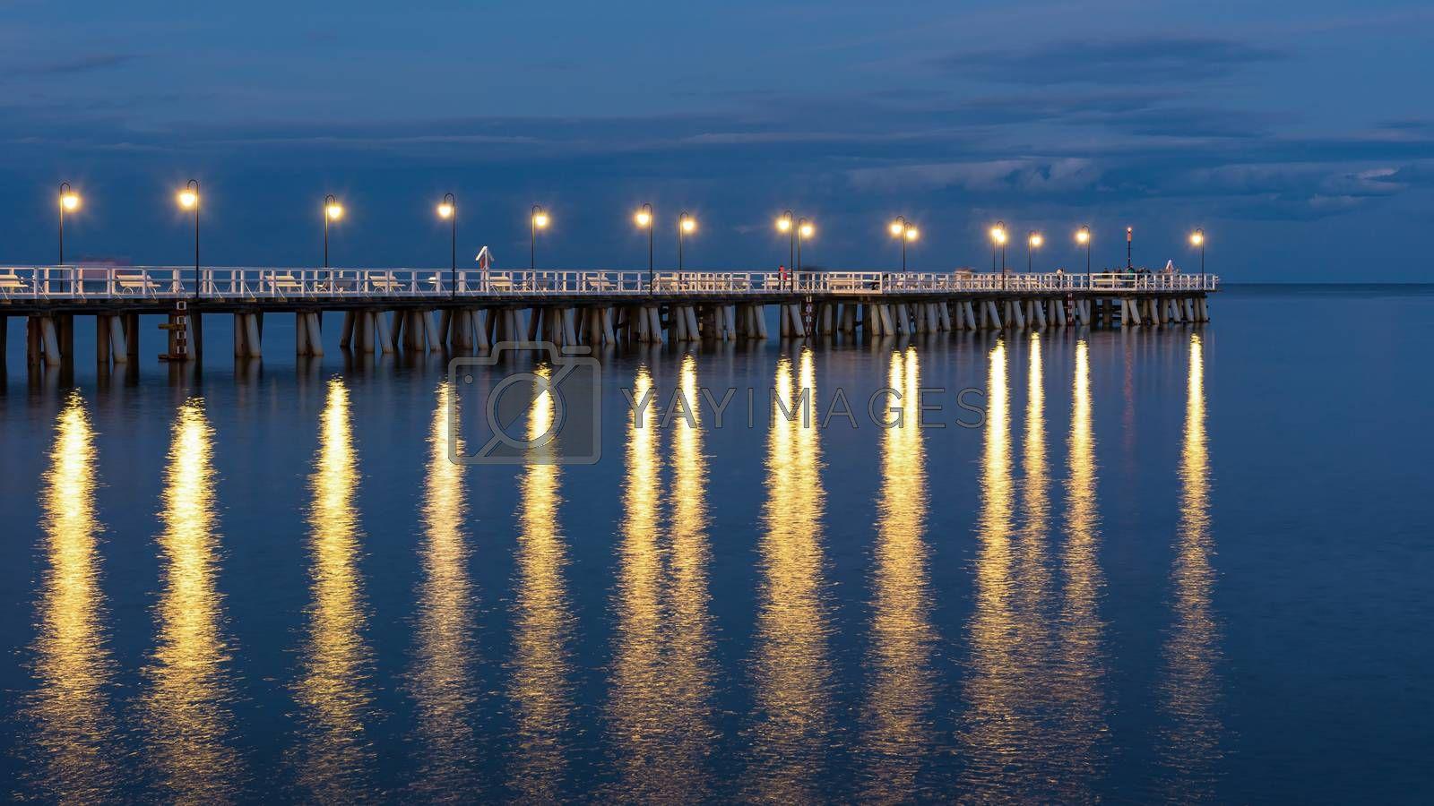 Royalty free image of Wooden pier in Gdynia Orlowo in Poland by mkos83
