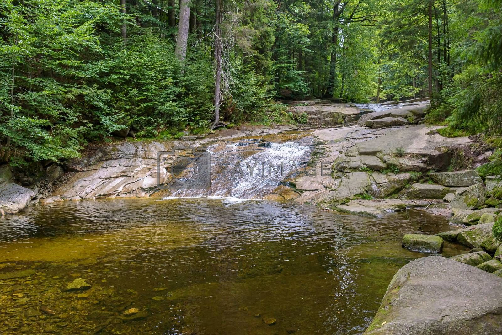 Royalty free image of Cascades on the Mumlava river in Czech Republic by mkos83