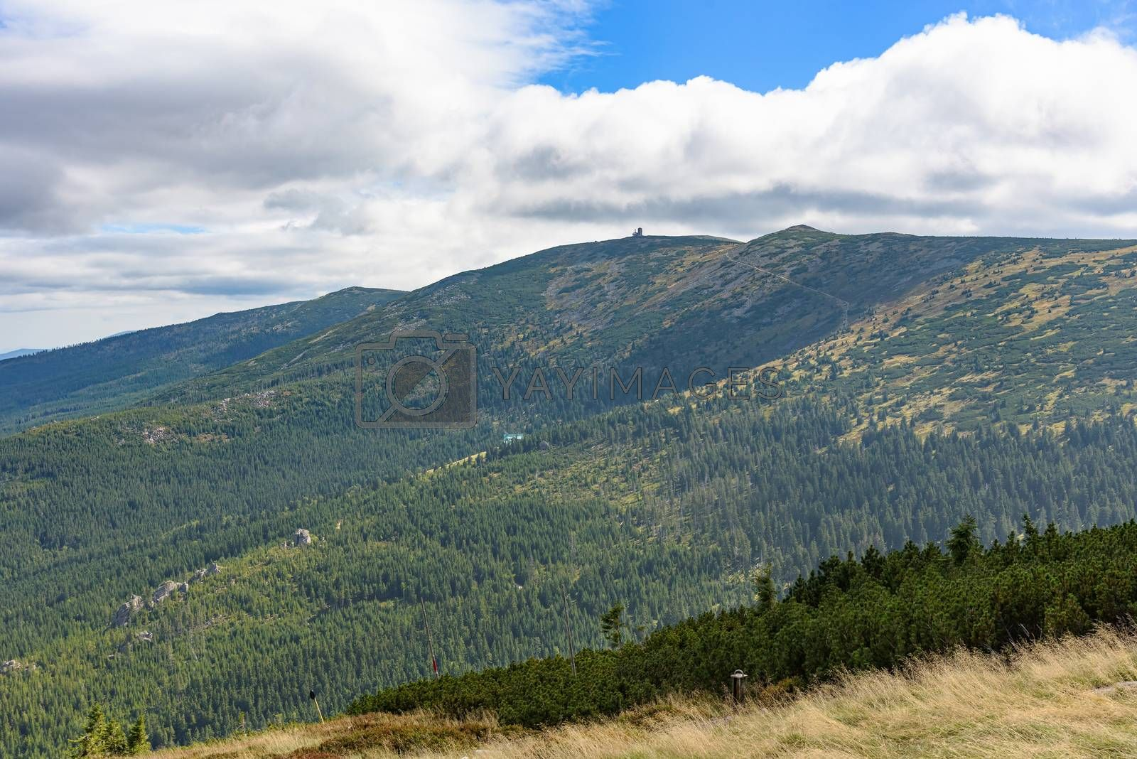 Picturesque summer landscape of Giant Mountains in Poland