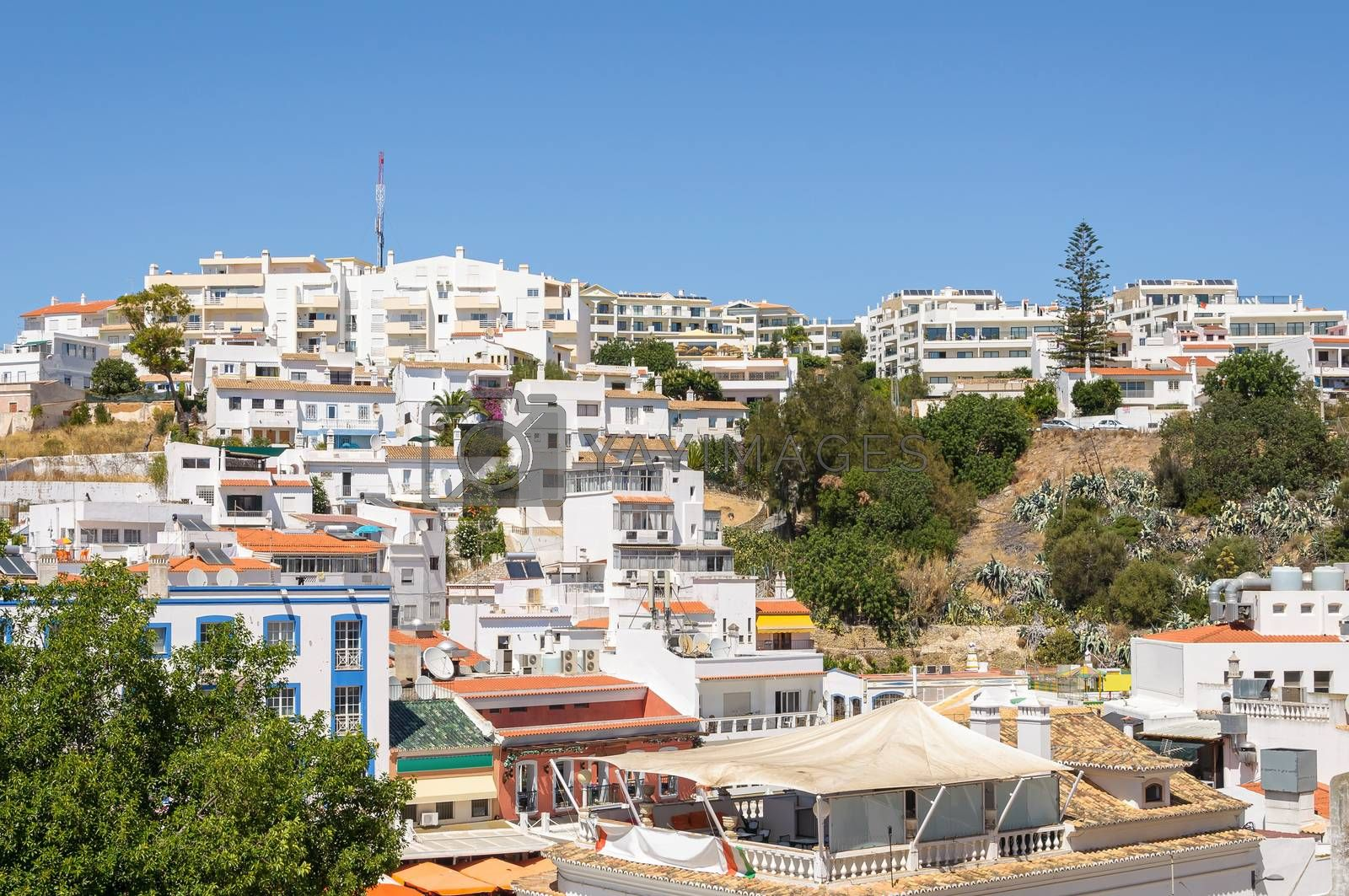 Royalty free image of Residential buildings of Albufeira town in Portugal by mkos83