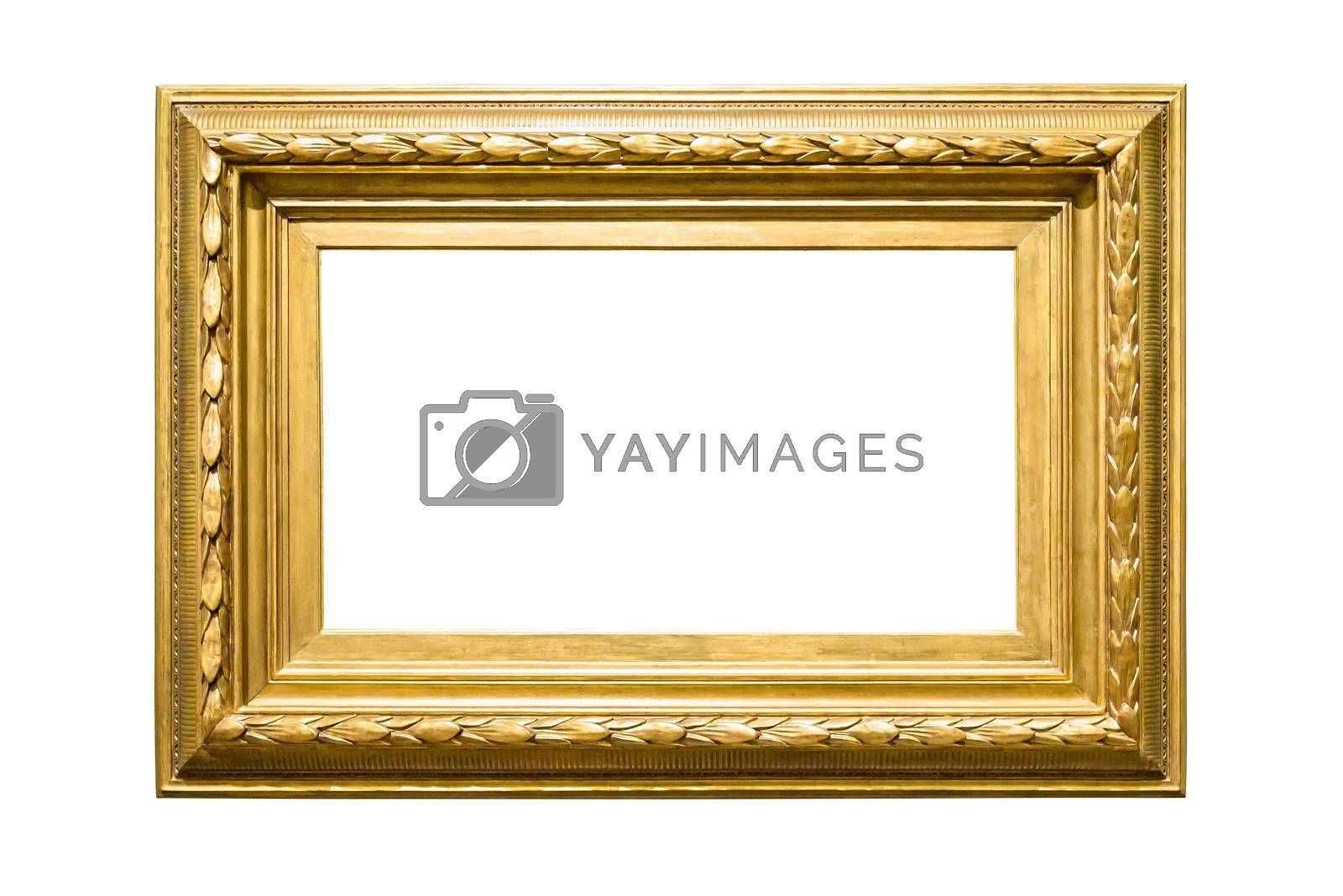 Royalty free image of Landscape golden decorative picture frame on white background by mkos83