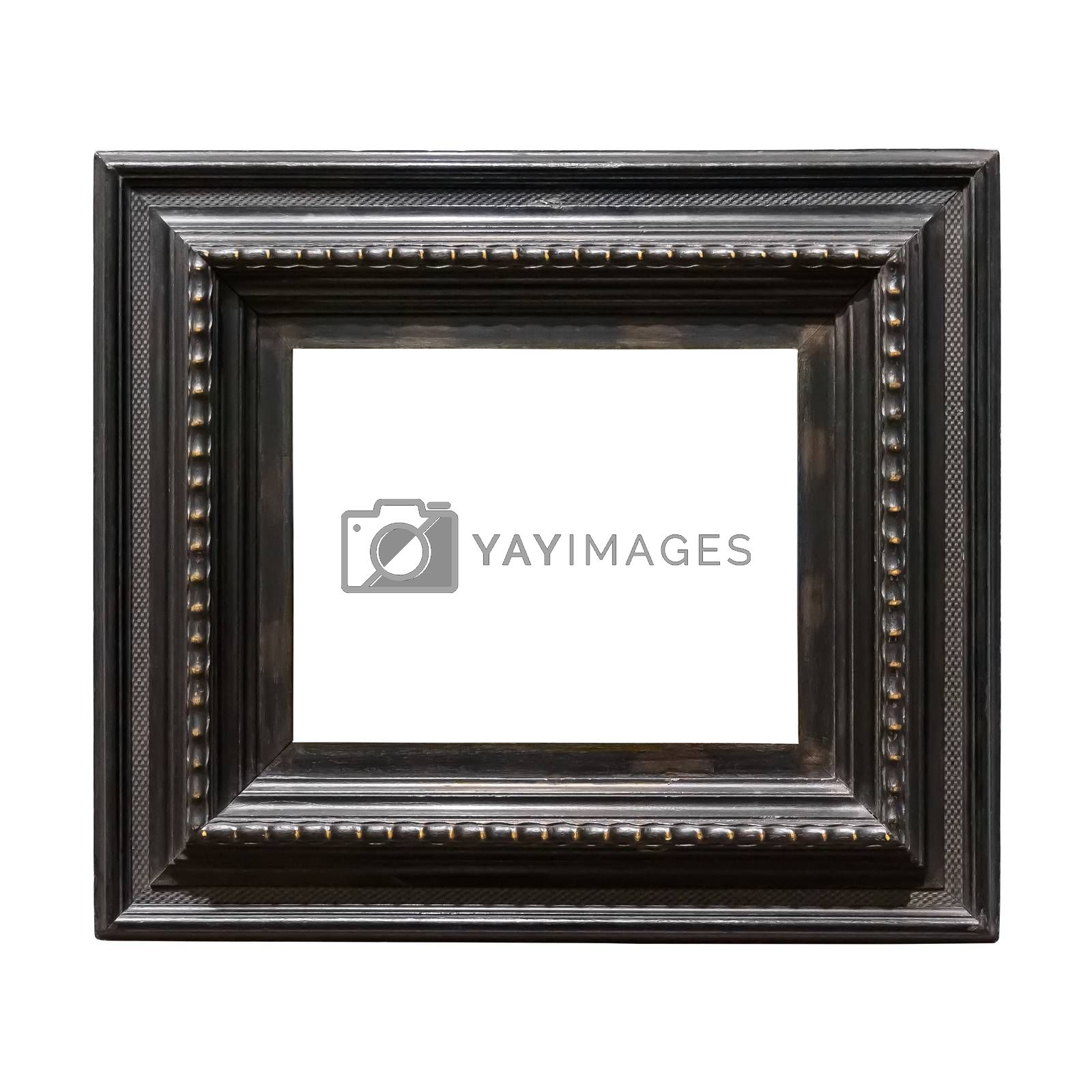 Royalty free image of Square wooden decorative picture frame isolated on white background by mkos83