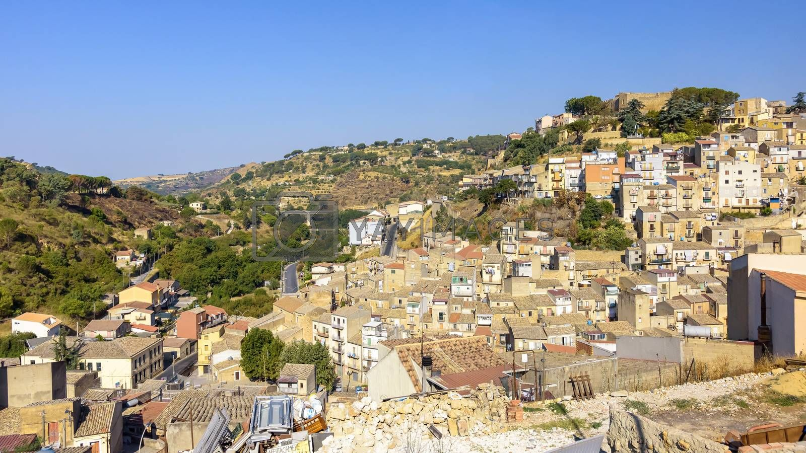 Royalty free image of View of Piazza Armerina town on Sicily by mkos83