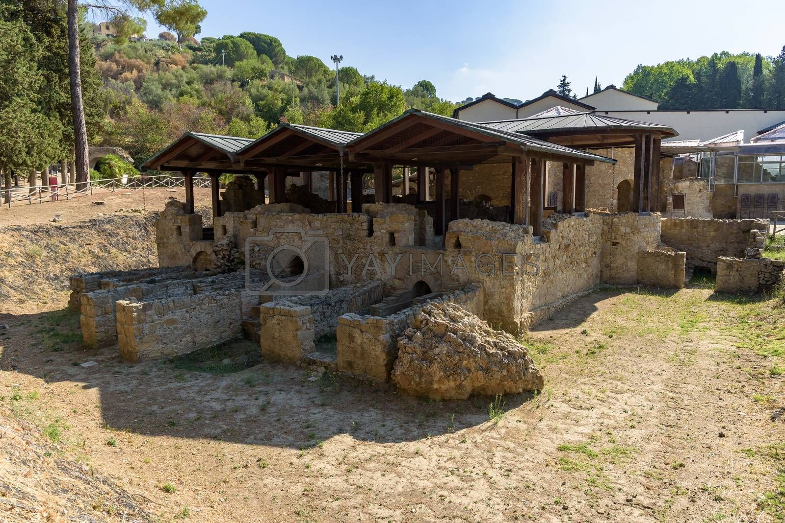Royalty free image of Ruins of the ancient Villa del Casale on Sicily, Italy by mkos83
