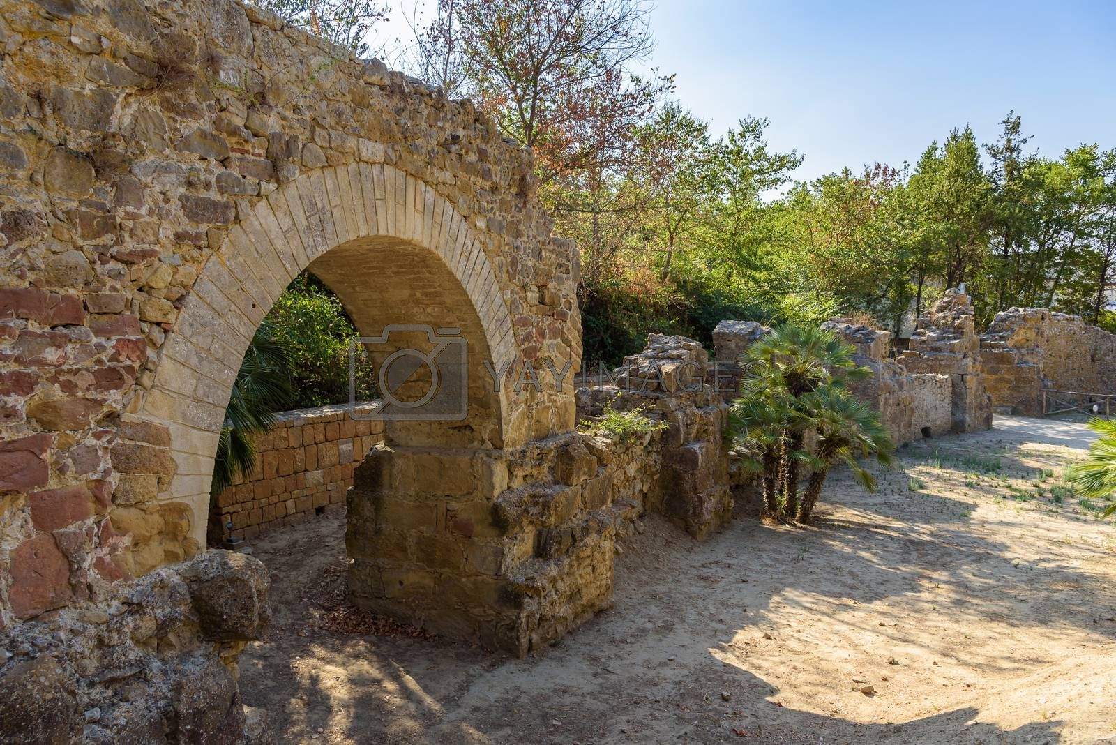 Royalty free image of Ruins of the ancient Villa del Casale on Sicily by mkos83