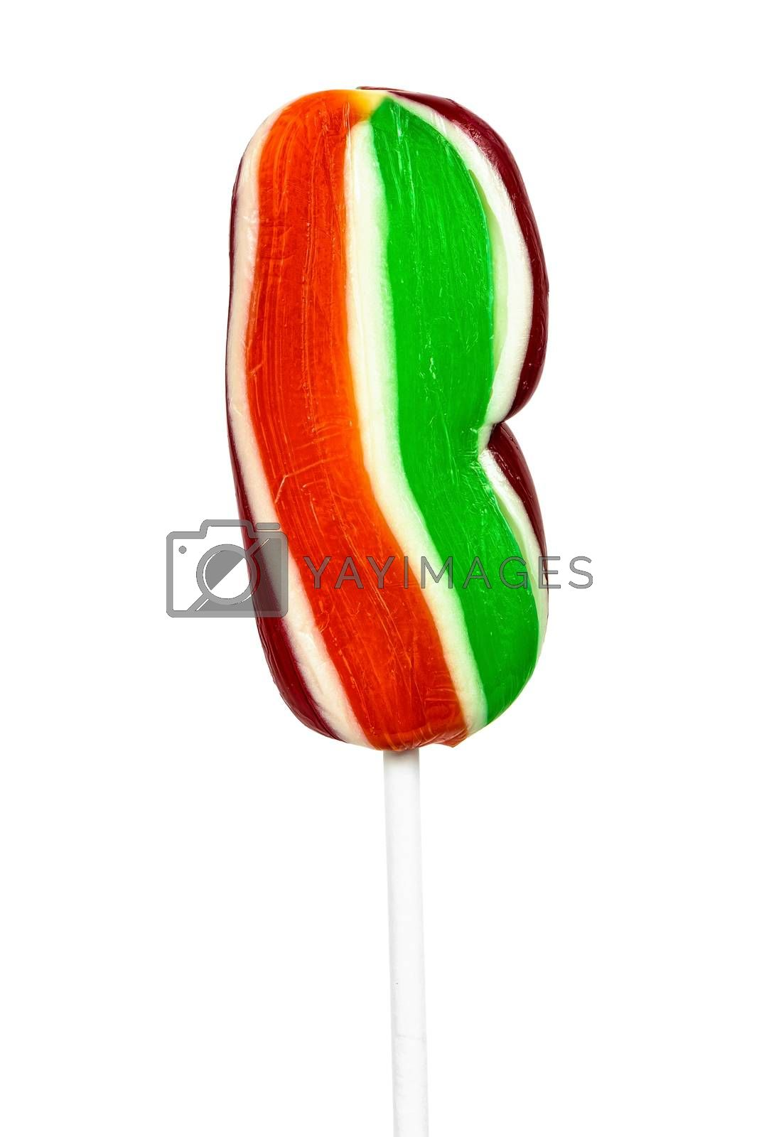 Royalty free image of Colorful lollipop on white background by mkos83