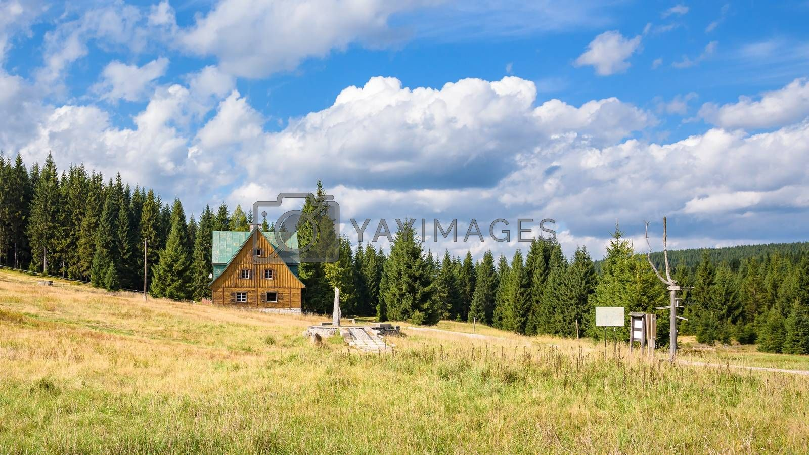 Royalty free image of House at the forest in Jizera Mountains by mkos83