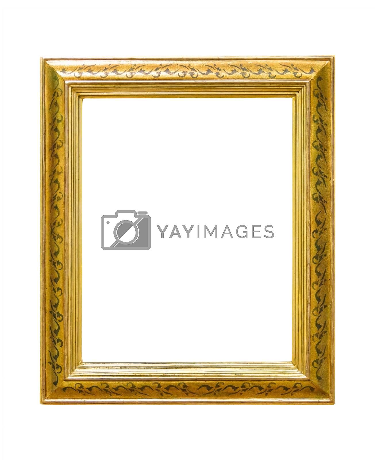 Royalty free image of Rectangle decorative golden picture frame by mkos83