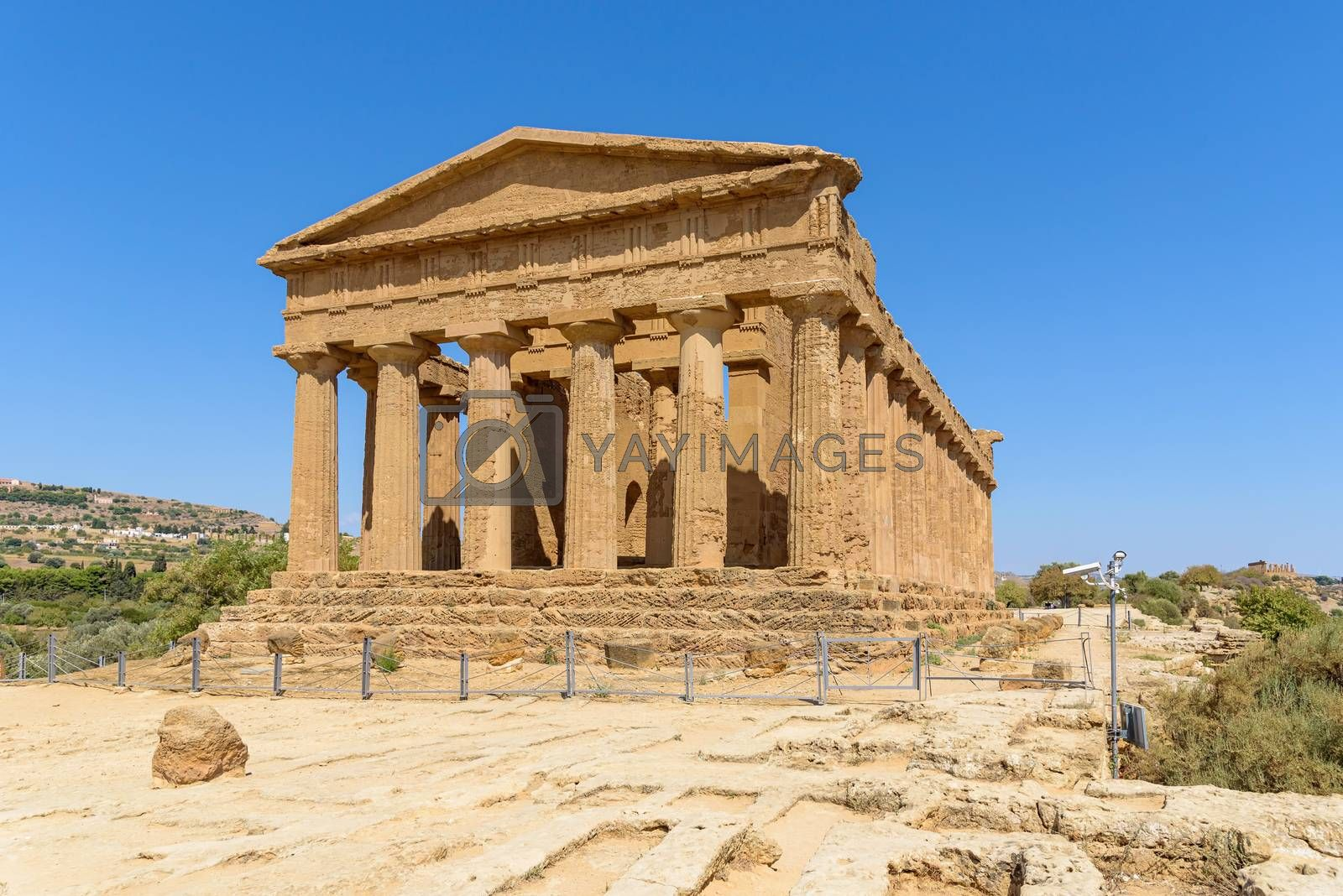 Royalty free image of Temple of Concordia in the Valley of the Temples in Agrigento by mkos83