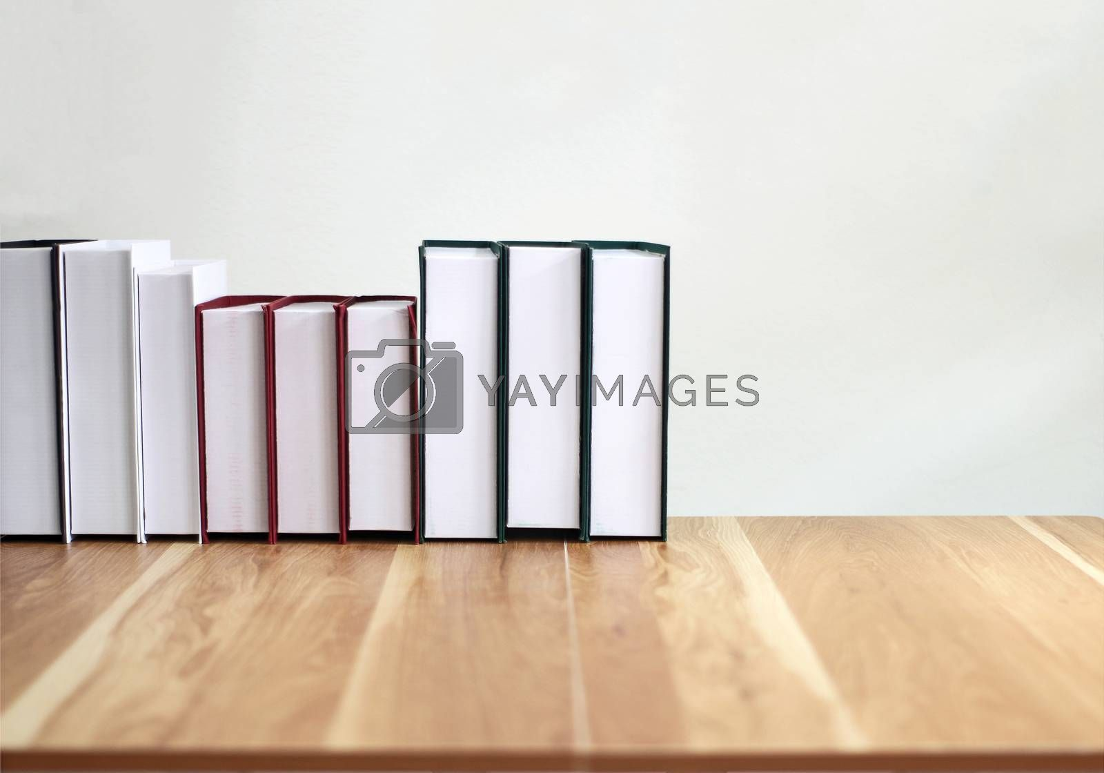 new books on a wooden table