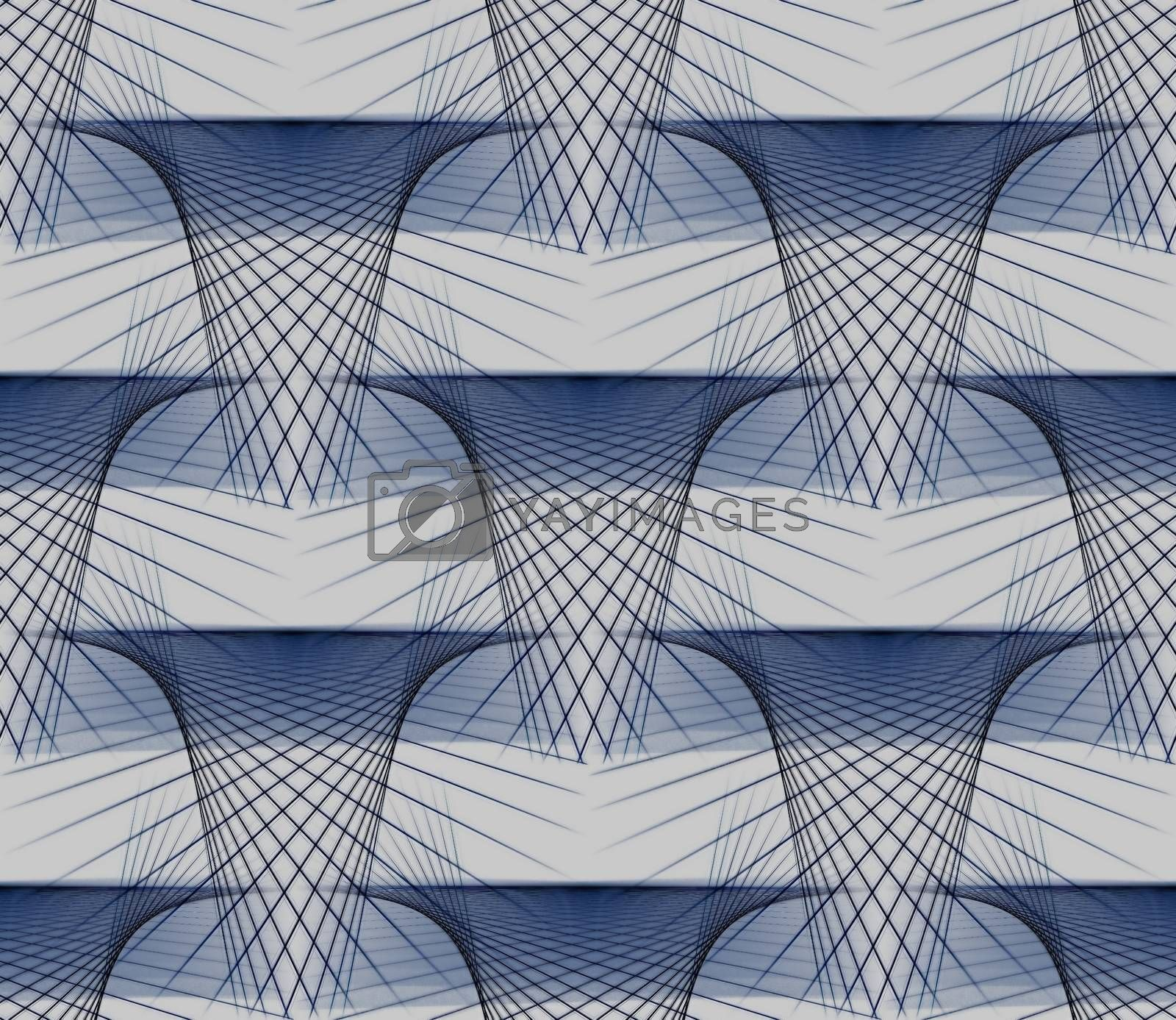 Abstract graphic of geometric three-dimensional patterns