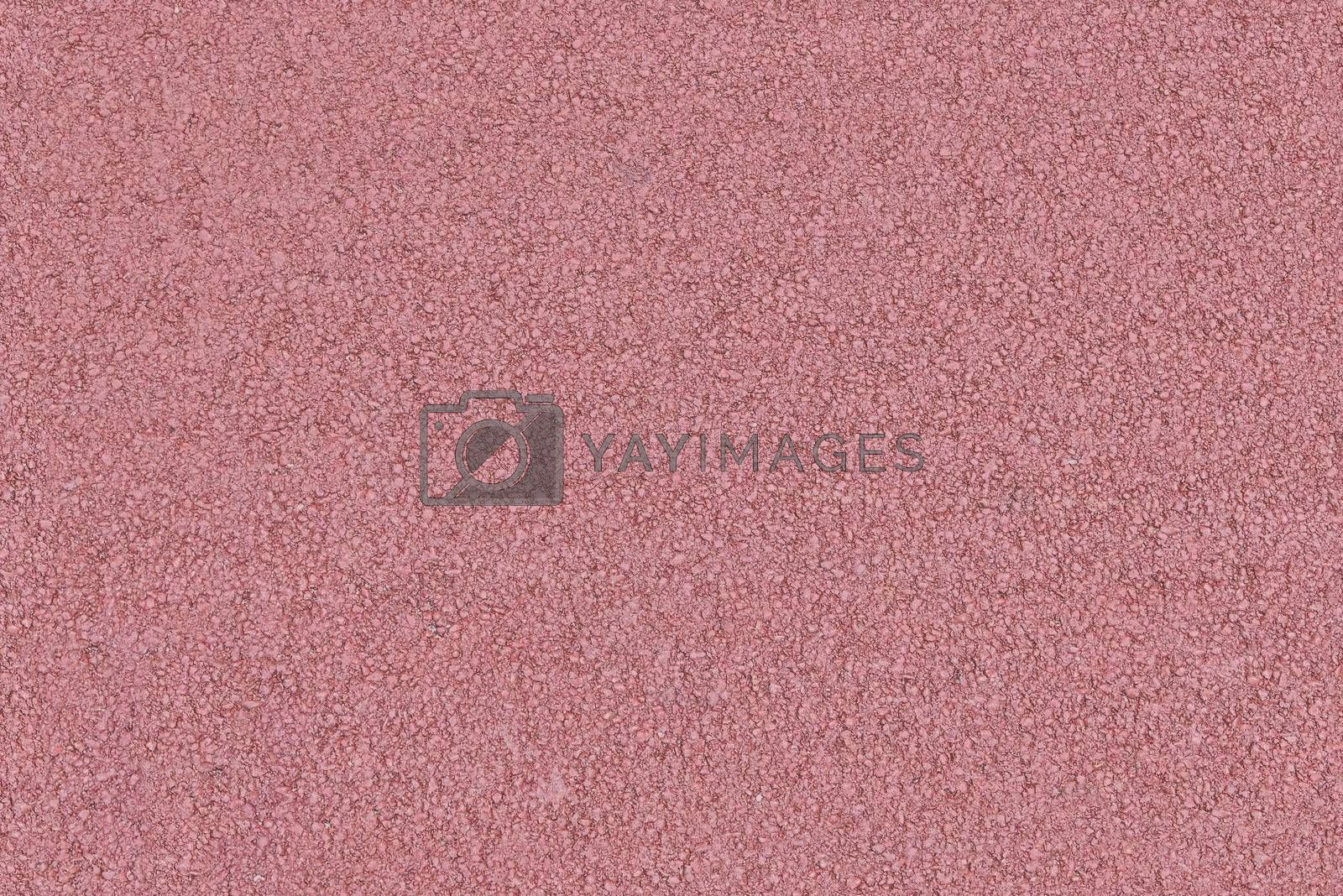 Seamless detailed background or texture made of red colored asphalt