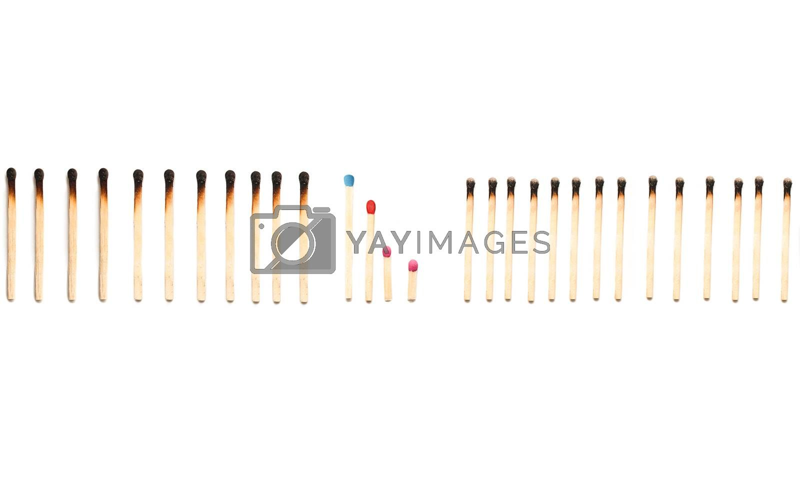 matches isolated on a white background. family protection concept. purity. protecting the family from the bad influence of society. social problems concept. Health oncept by Nickstock