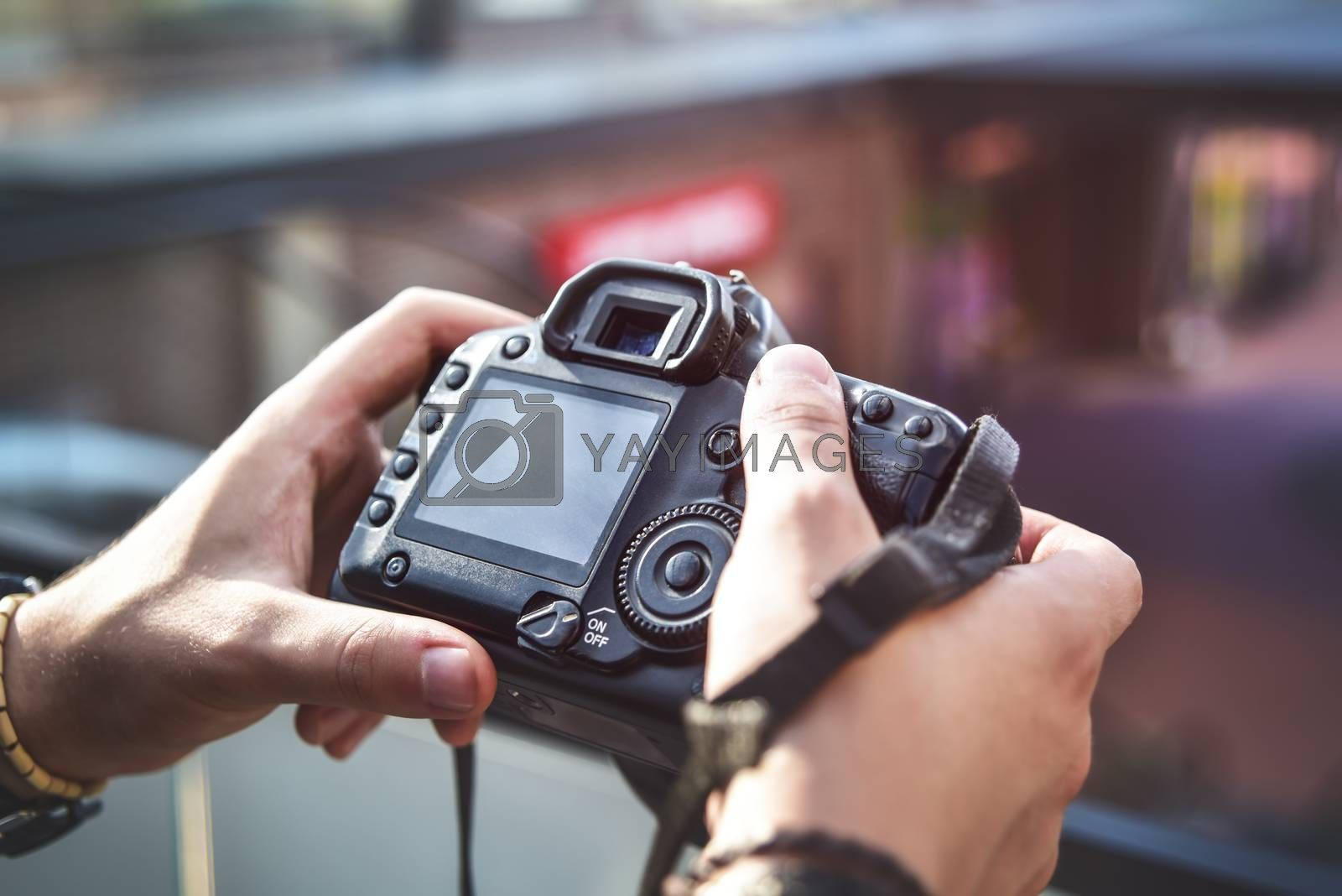 camera in hand, Street photography, photosession process