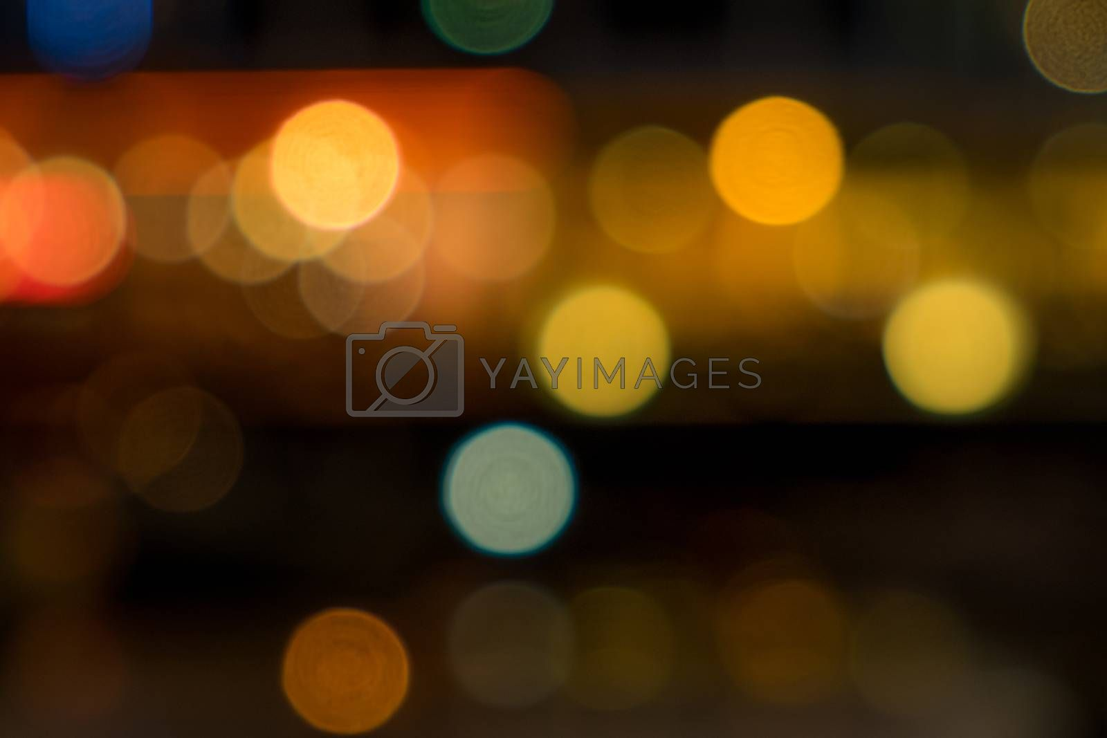 City lights bokeh suitable to be used as background