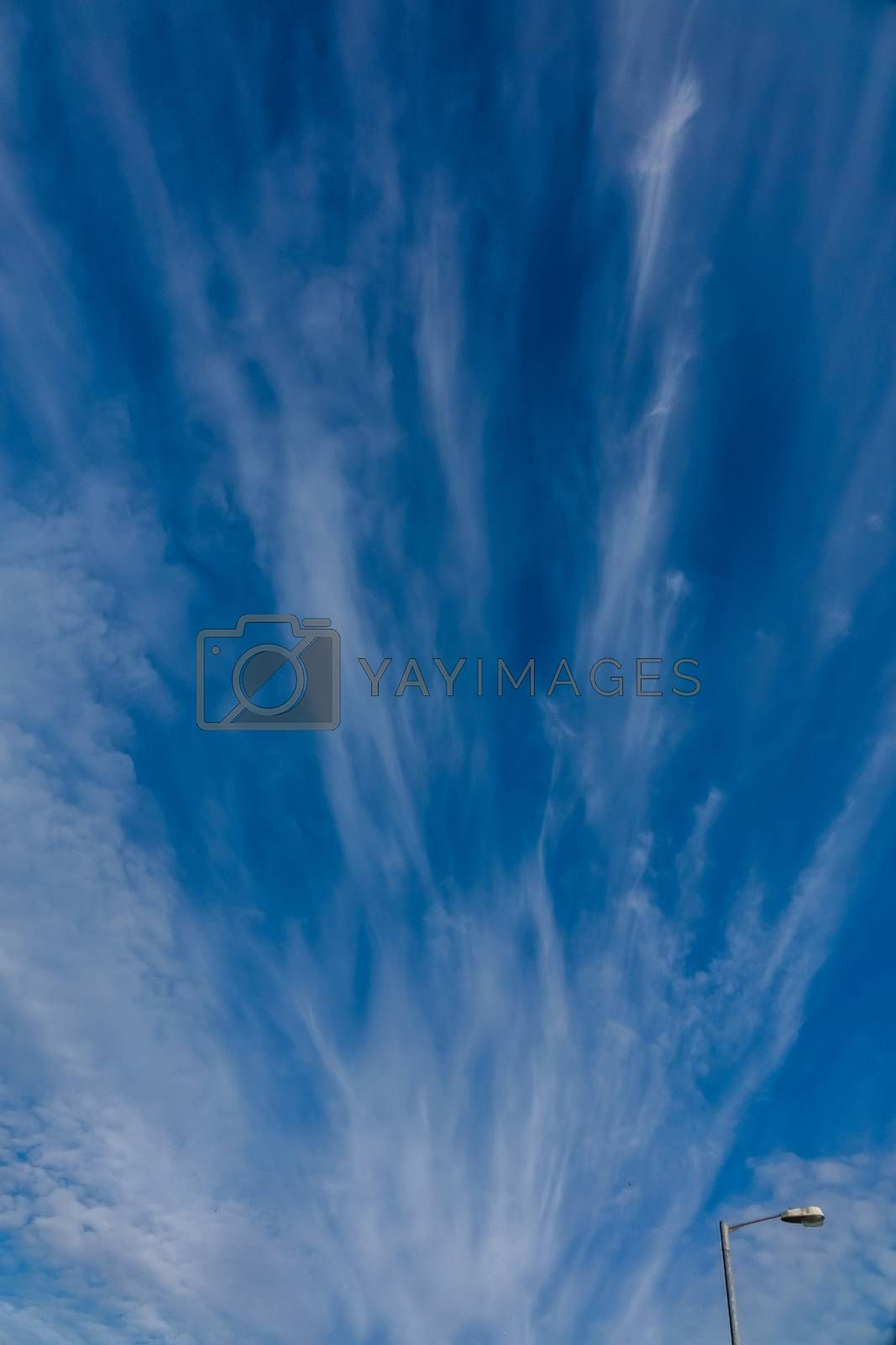 Horizontal picture of clouds in the sky