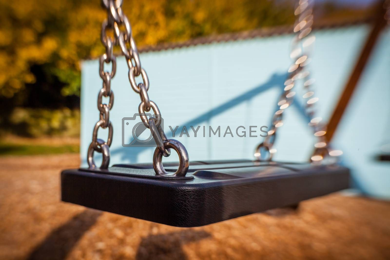 Picture of an swing in an outdoor playground
