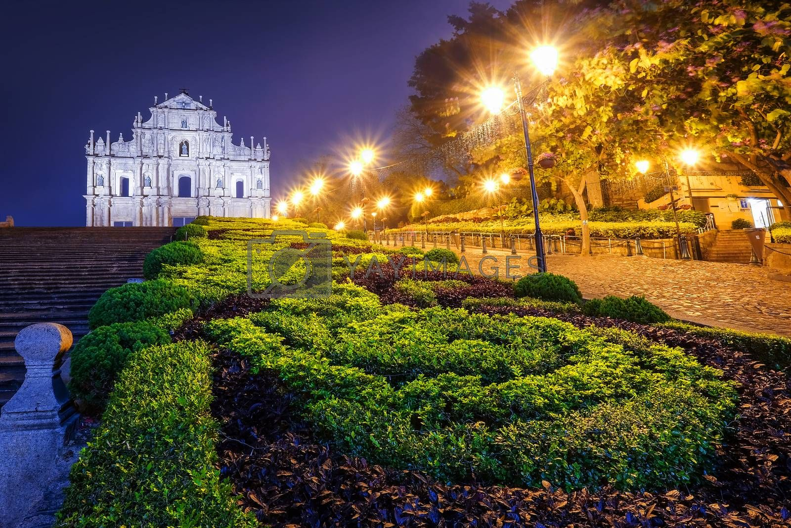 Ruins of St. Paul's, one of Macau's most famouse landmark and fabulous UNESCO World Heritage Site.