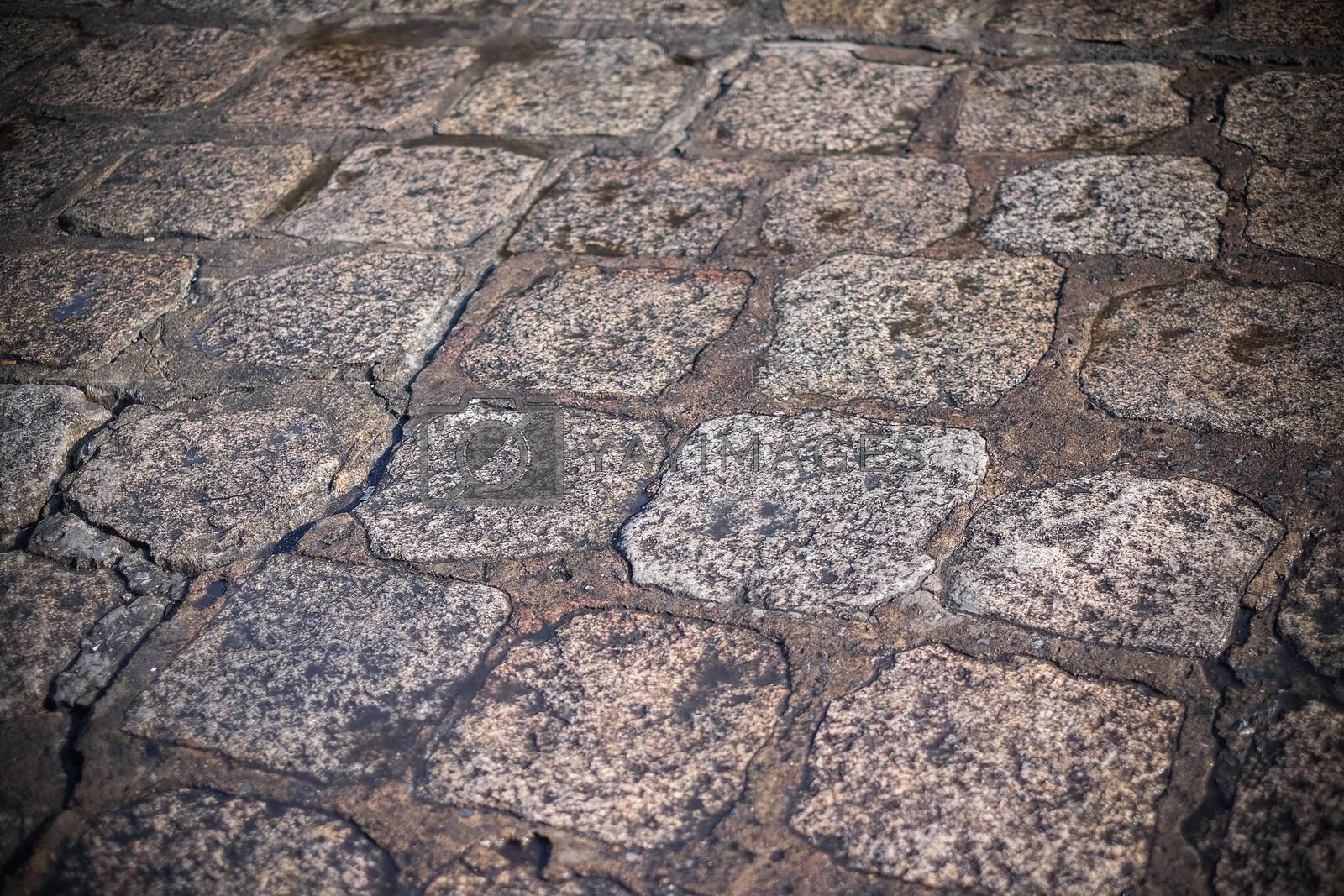 Brick walkway backgroud and close up