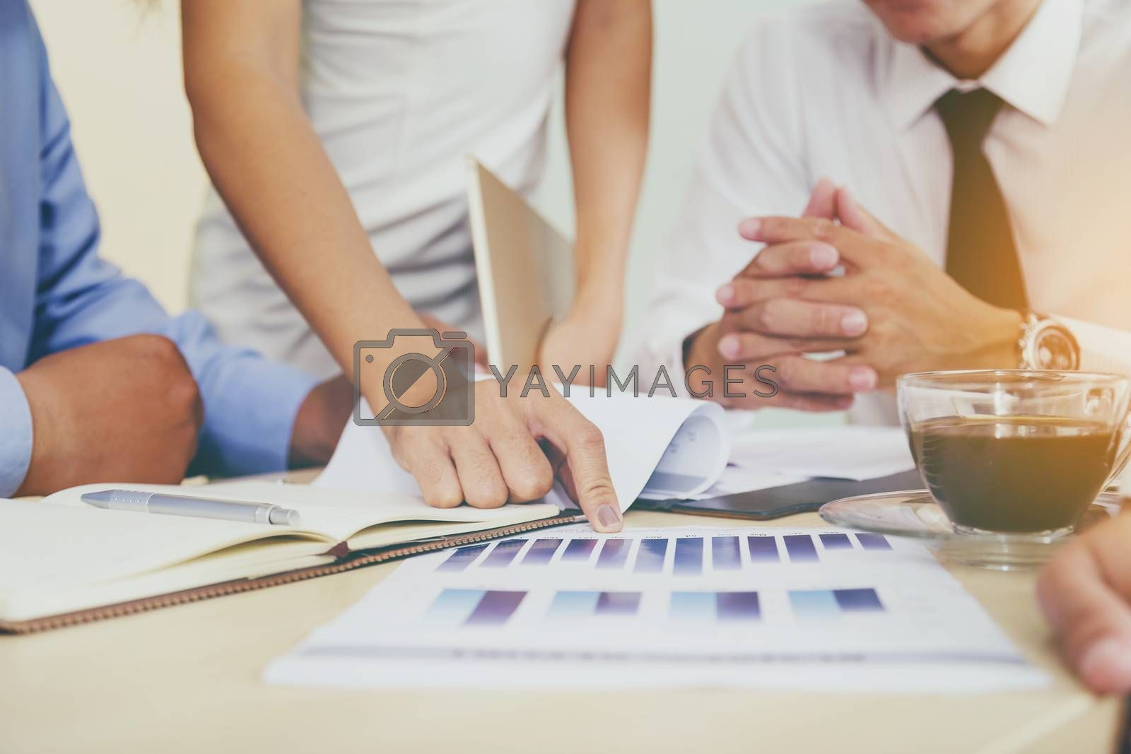 Business team presenting information for business planning. Teamwork Concept