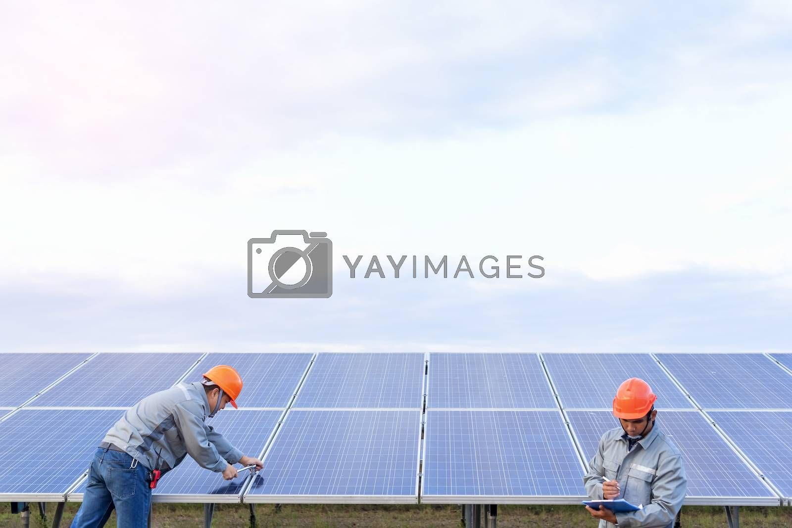 The engineering team is working on the equipment inspection and maintenance at the solar power plant. In order to be in normal operating condition