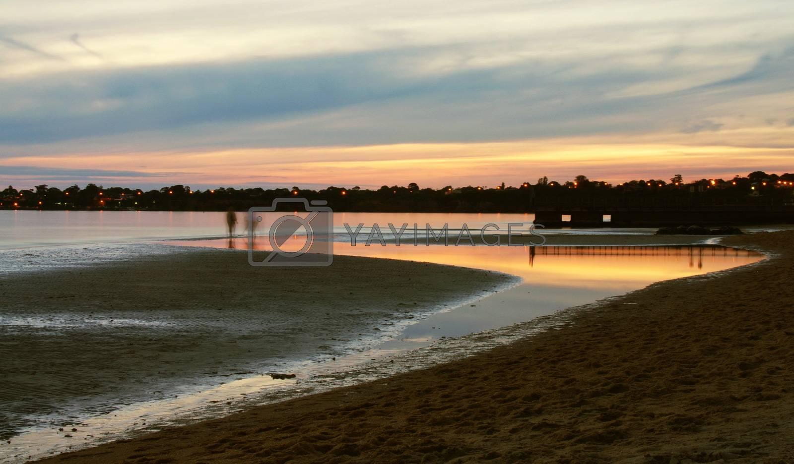 beautiful evening sunset in Australia