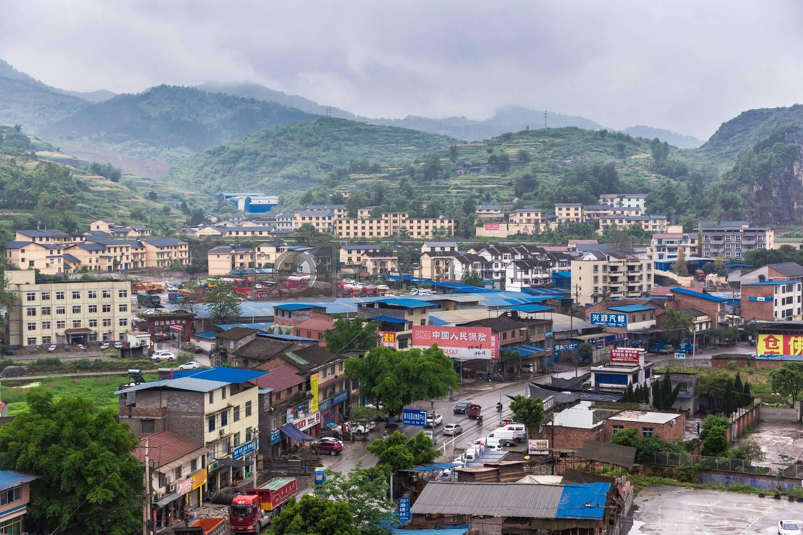 Beautiful view of country side from Wulong in Chongqing, China.