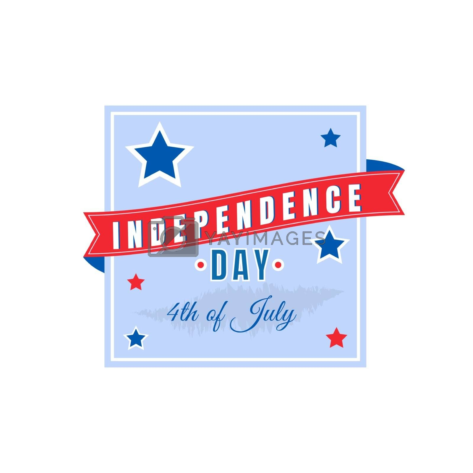 Fourth of July flat color vector badge. United States patriotism. American independence holiday event sticker. US national freedom day patch. Liberty celebration isolated design element