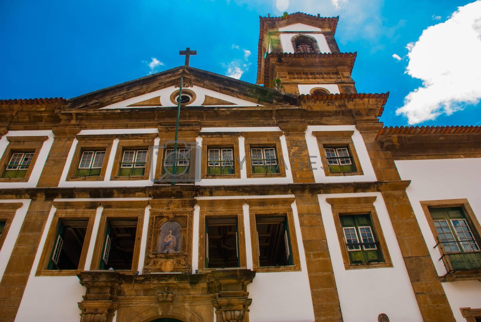 SALVADOR, BAHIA, BRAZIL - MARCH 2019: Catholic church, historic district of Pelourinho.
