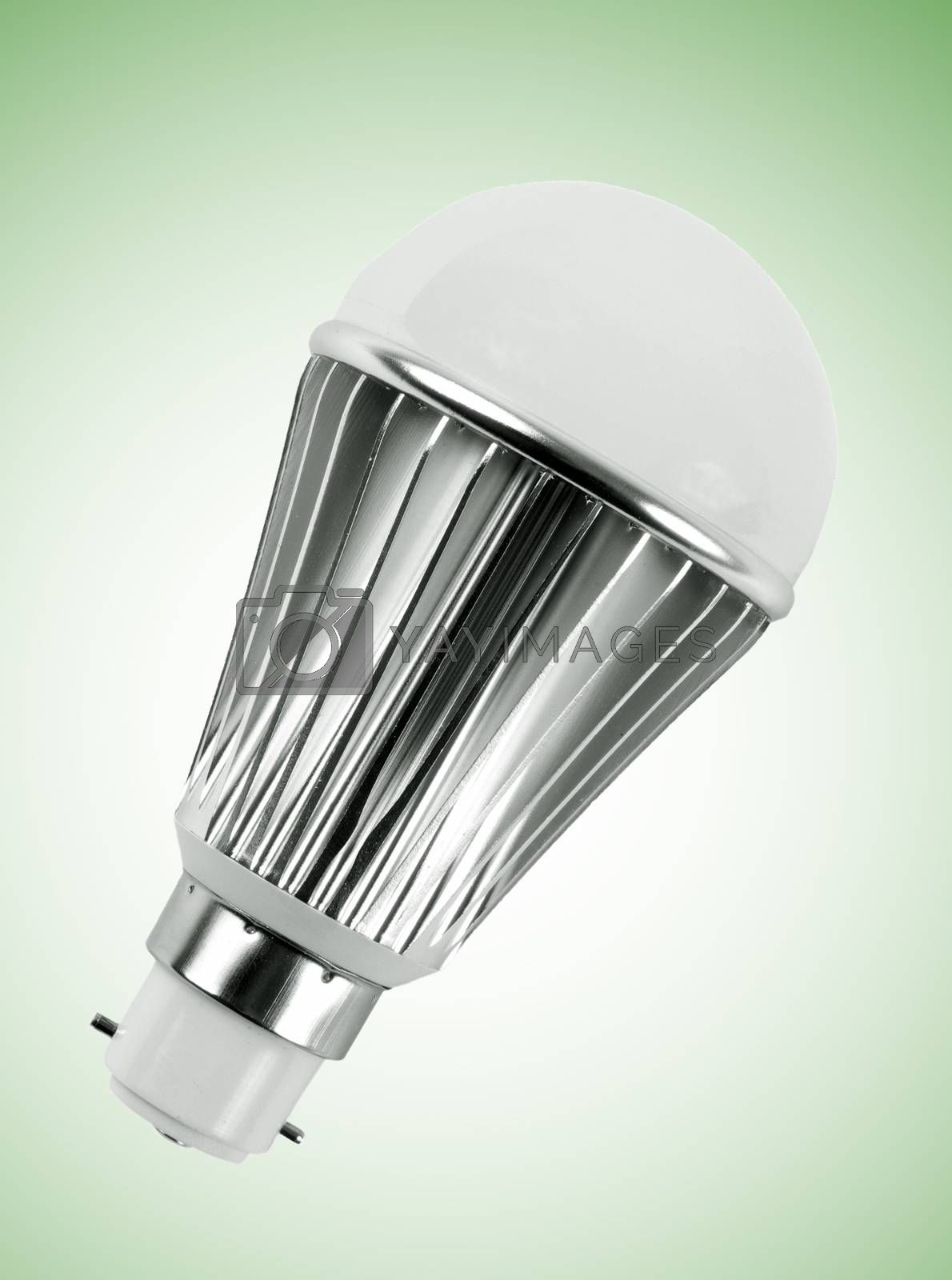 light bulb on the green surface