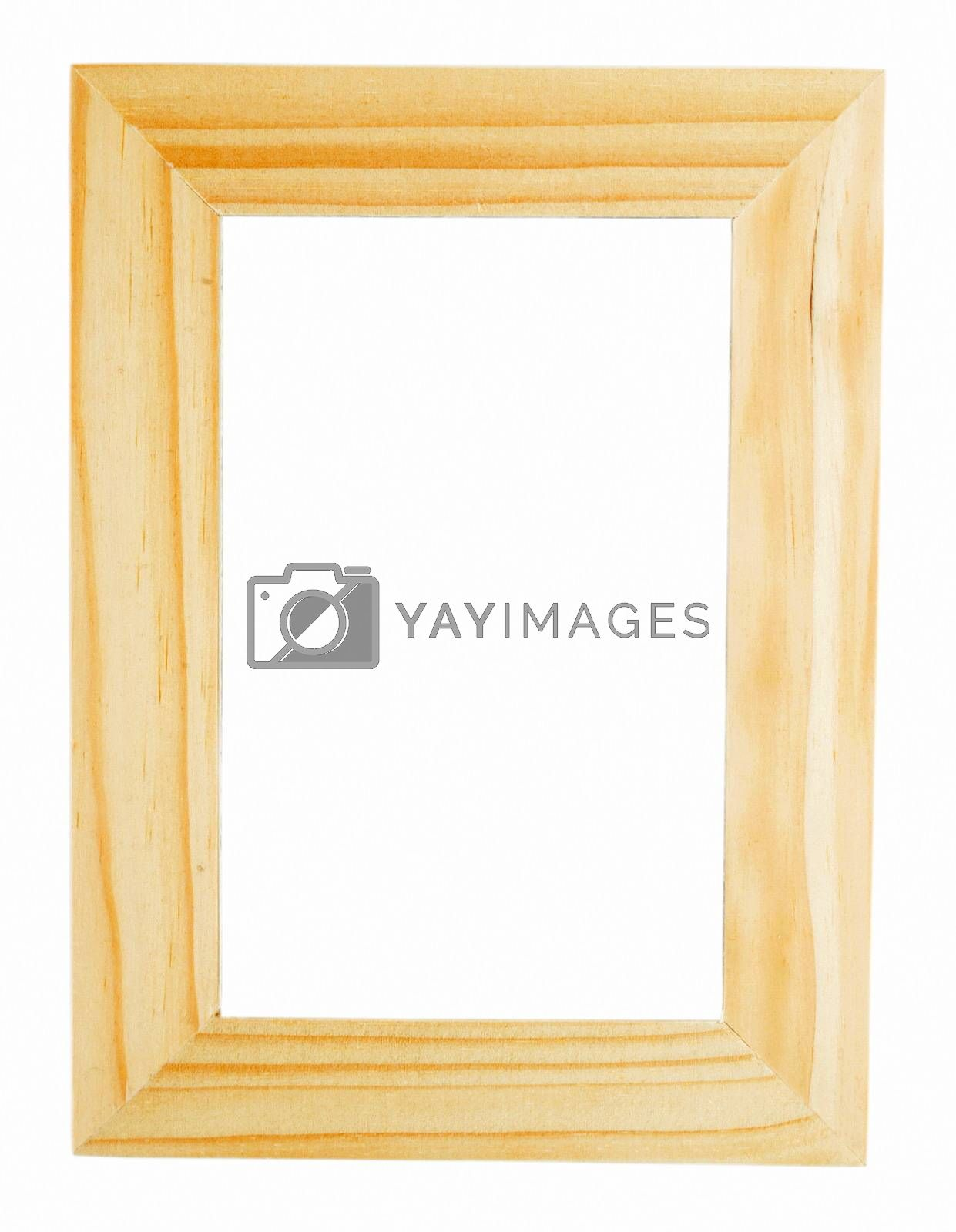 wooden picture frame with space for your text