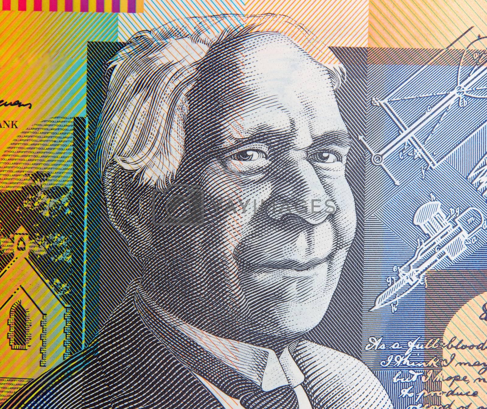 australian fifty dollars note portrait
