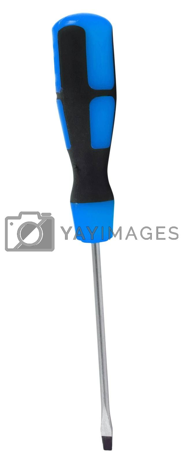 big screwdriver isolated on white background