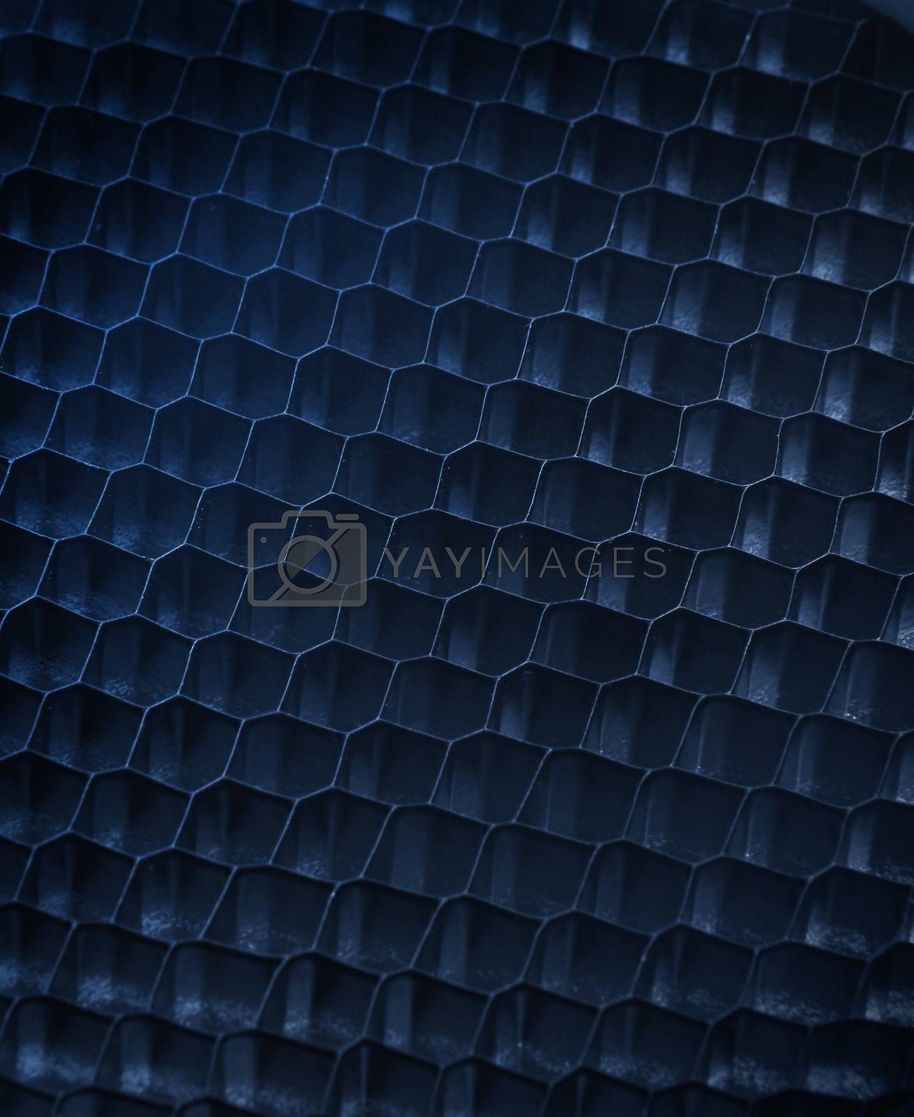 abstract blue metal grid background