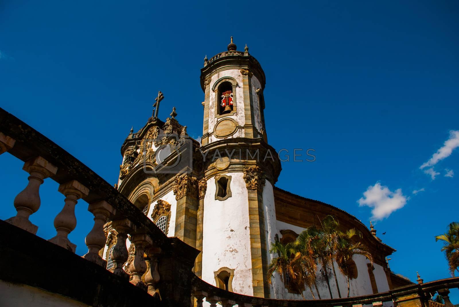 Sao Joao del Rei, Minas Gerais, Brazil: Sao Francisco de Assis church, one of the main church of rural colonial town of Sao Joao del Rei, the state of Minas Gerais