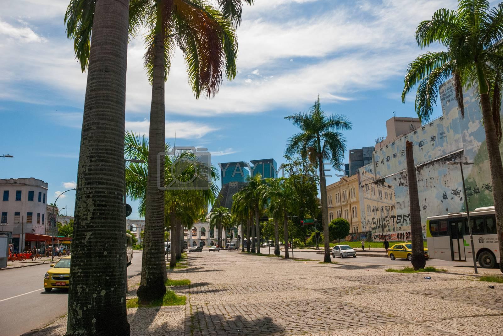 RIO DE JANEIRO, BRAZIL - APRIL 2019: Metropolitan cathedral in Rio de Janeiro