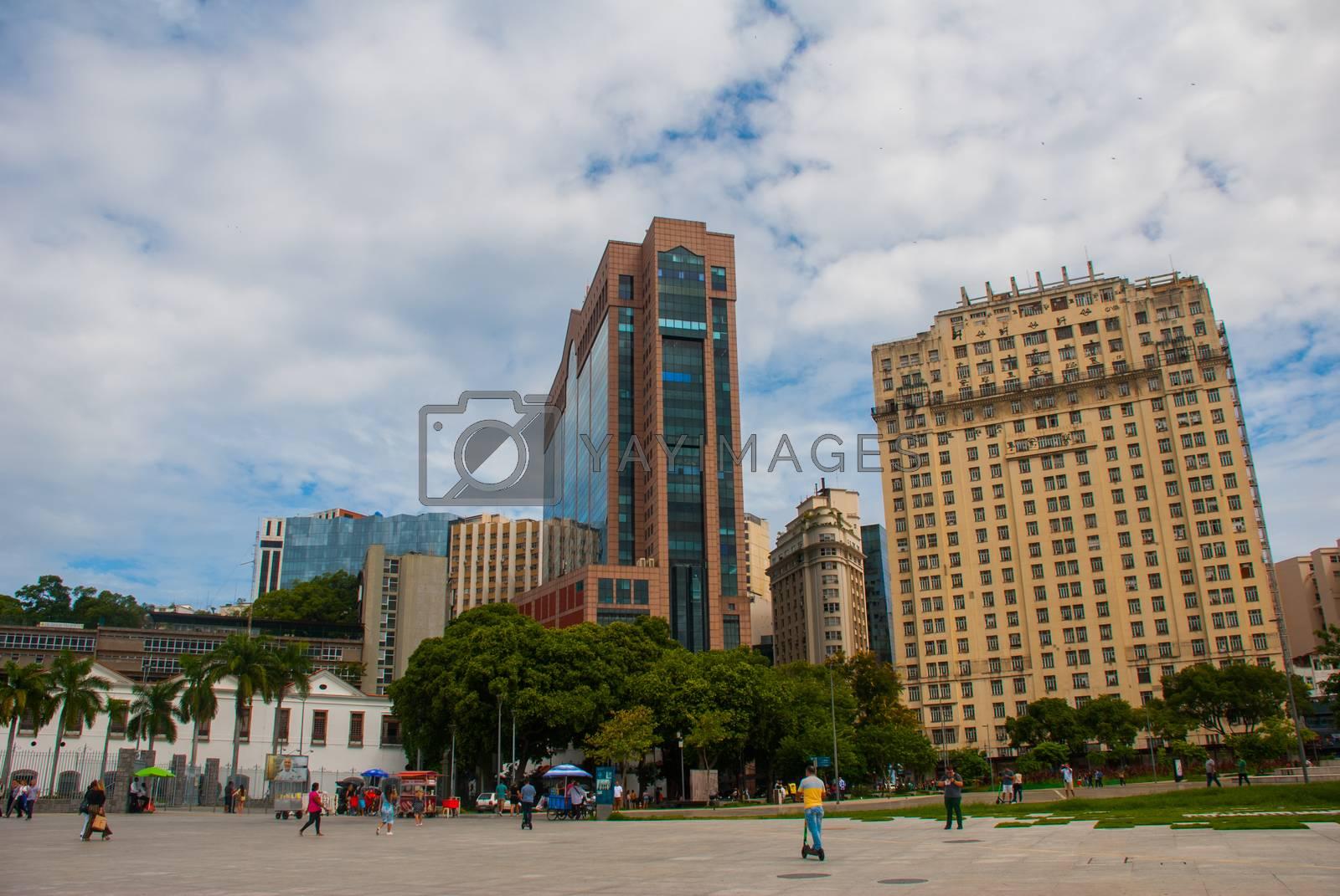 Rio de Janeiro, Brazil, America: Skyline in city center of Rio de Janeiro