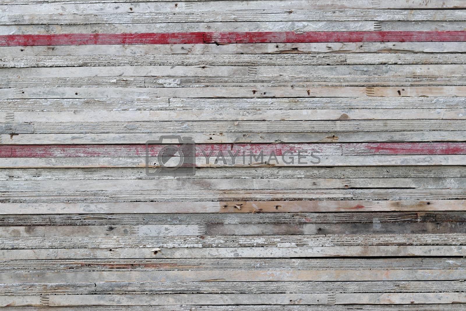 Old wood slats stacked background.
