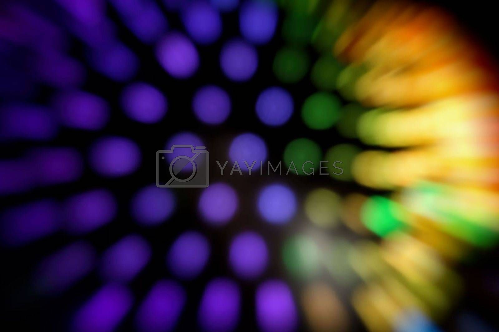 Abstract Blurred Circle Bokeh Background.