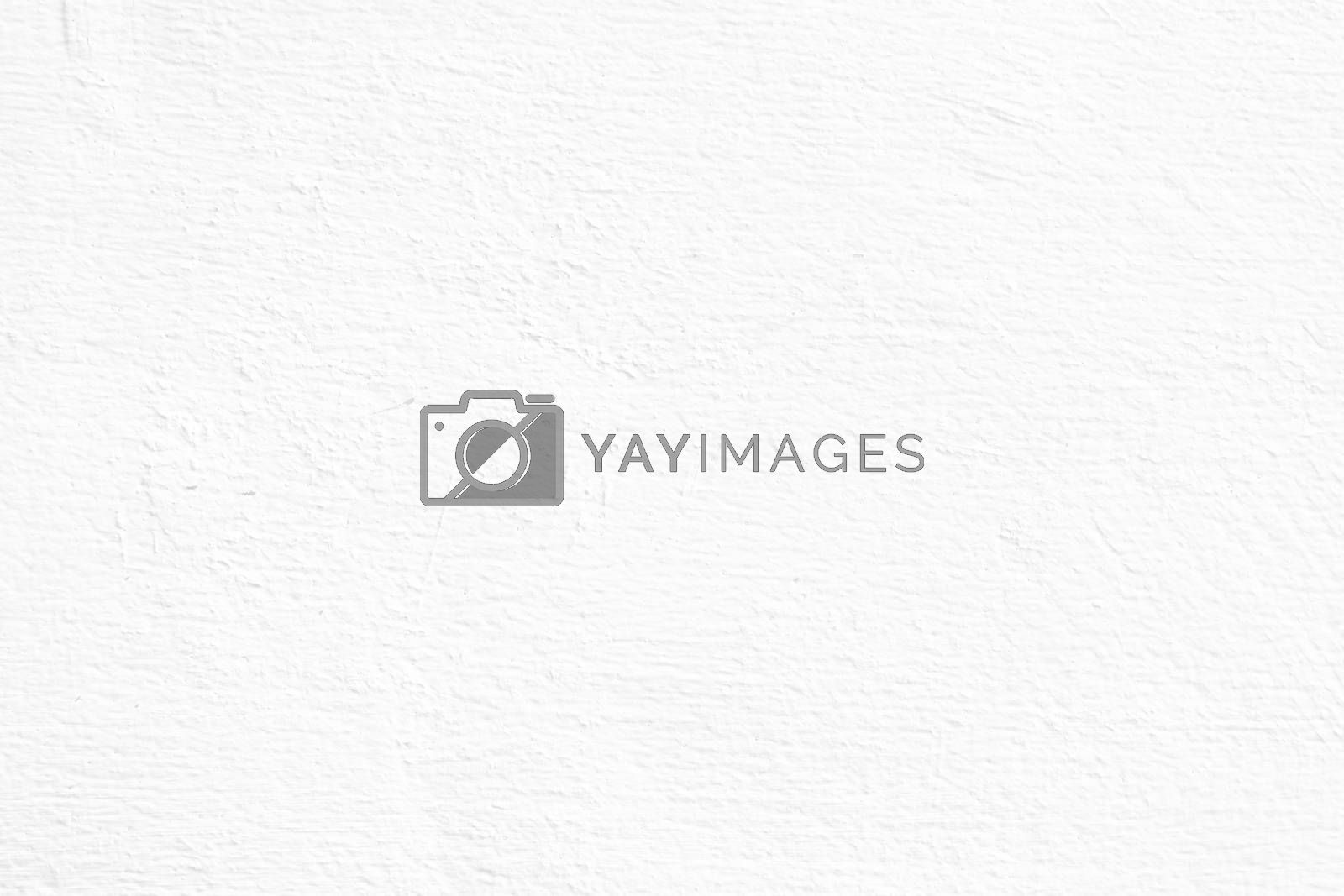 White Paint Concrete Wall Background.