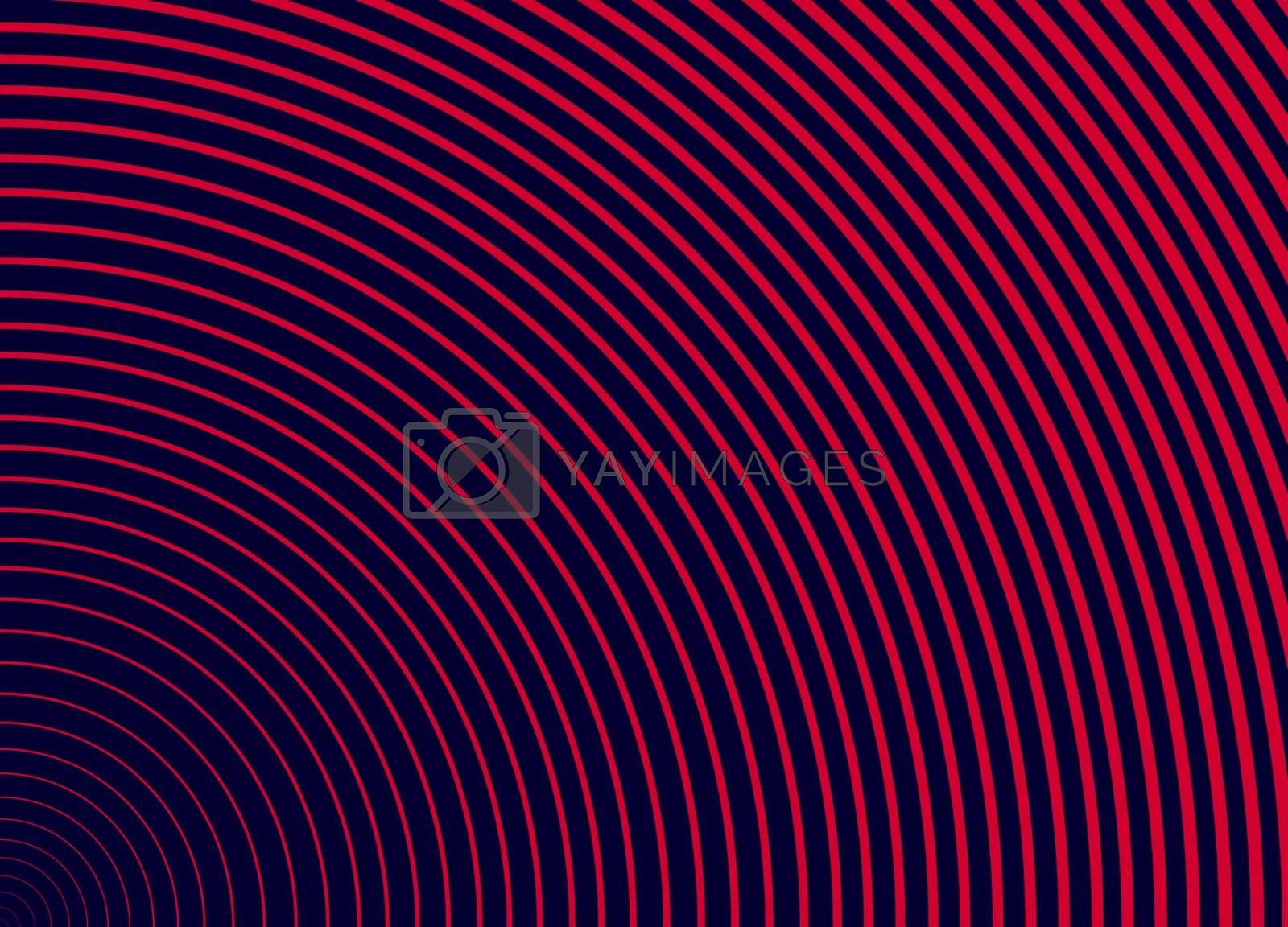 Abstract curve line with dark blue background.