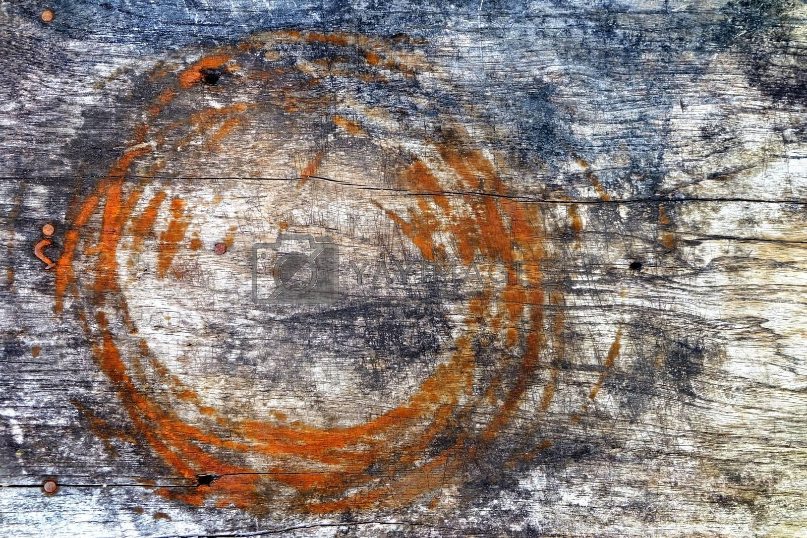 Old Grunge Wooden Board Background.