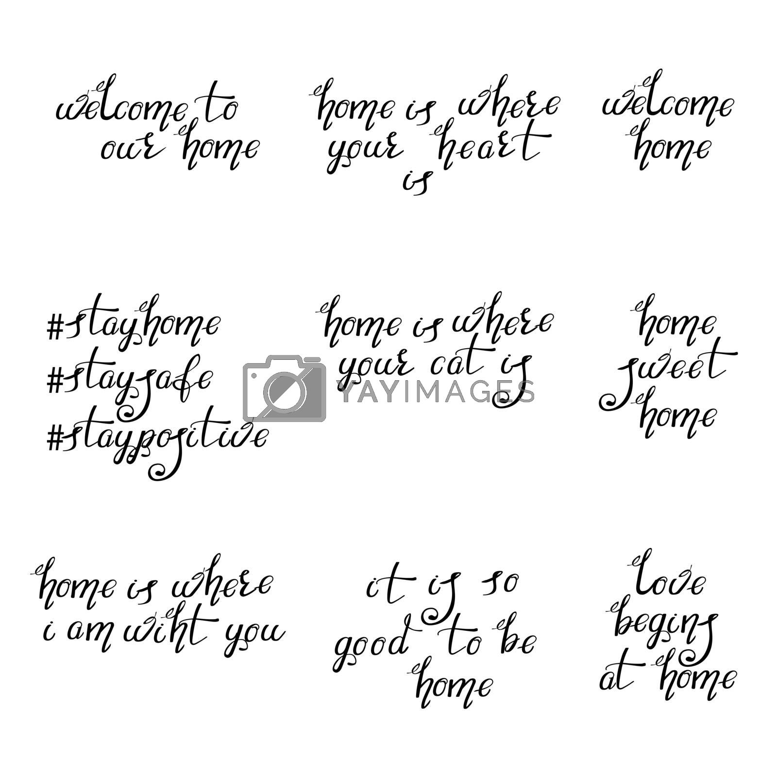 Lettering Typography Poster. Calligraphic Quotes for Posters, Home decorations, Cards. Motivational Hand Written Sign.