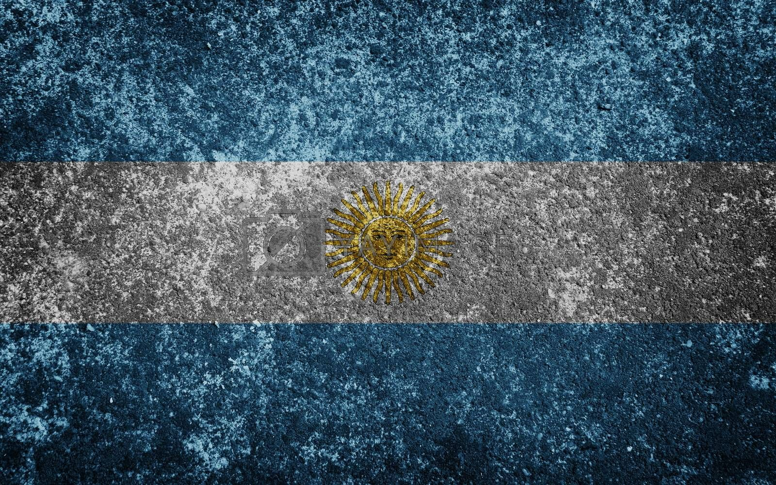 Argentina flag painted on concete