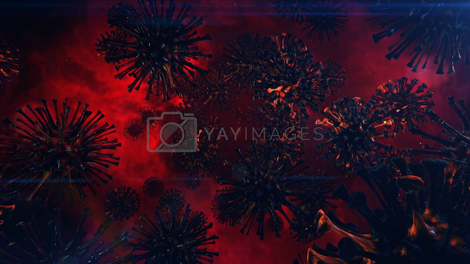 3D illustration Background for advertising and wallpaper in health and microbiology scene. 3D rendering in decorative concept.