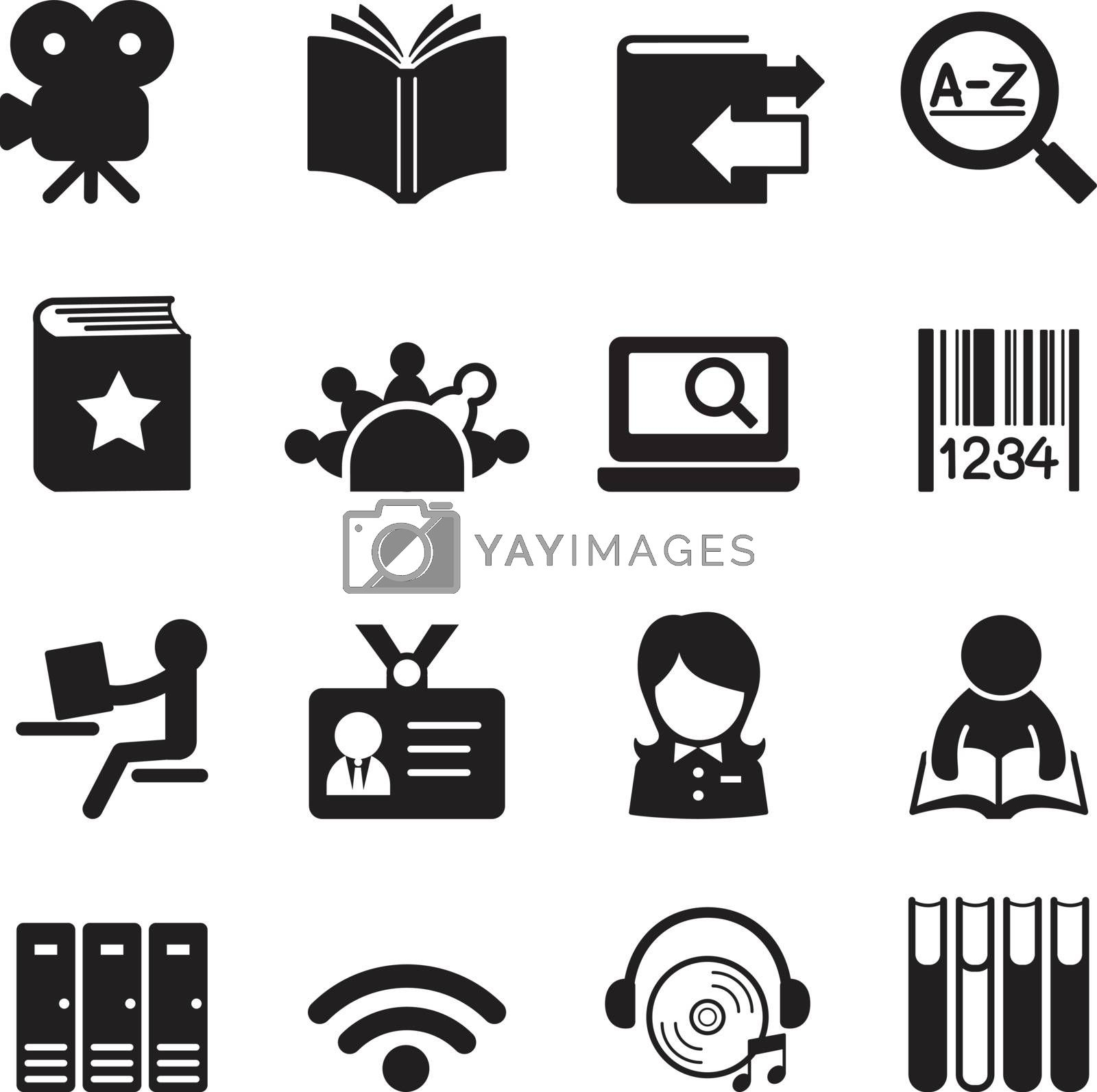 Library icons Vector illustration symbol 2