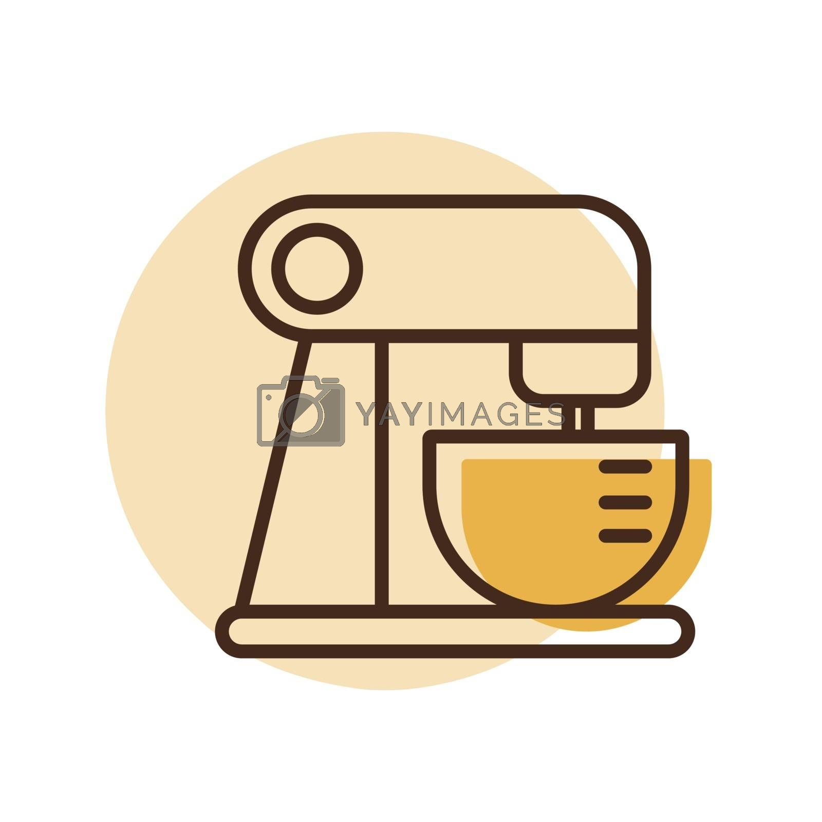 Food processor. Mixing. Pureeing foods. Electric kitchen appliance. Graph symbol for cooking web site design, logo, app, UI